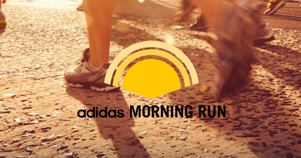 Morgenstimmung beim adidas morning run