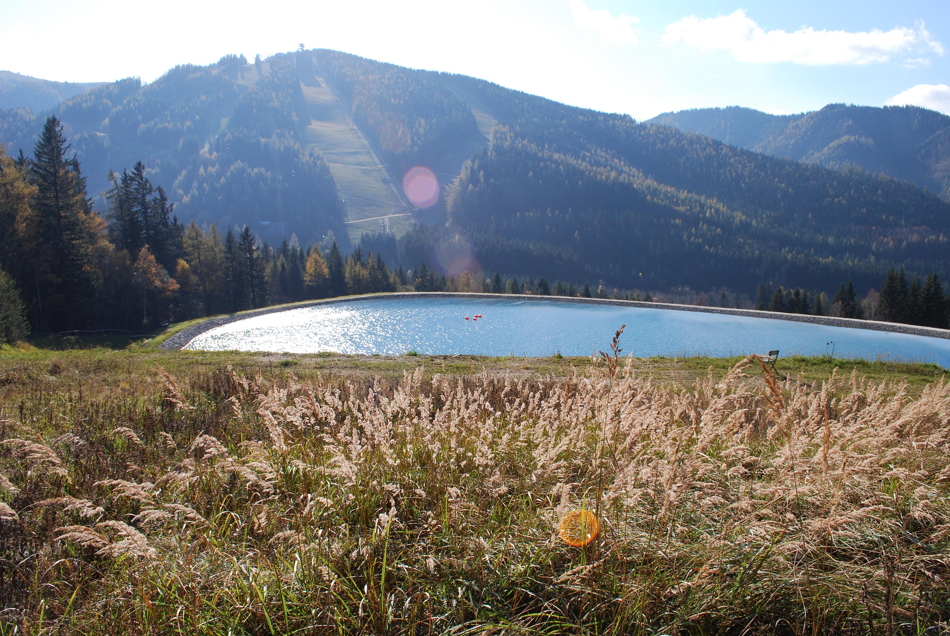 Blick auf die Landschaft während dem Super Trail Austria