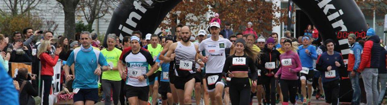 Läufer beim Start des Oberwaltersdorfer Fontanalauf