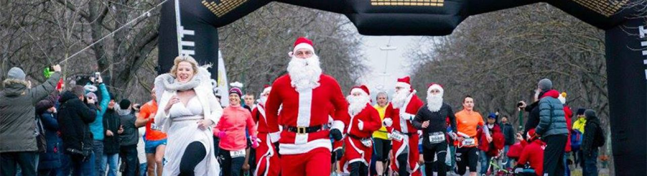 Läufer beim Start des Vienna Christmas Run