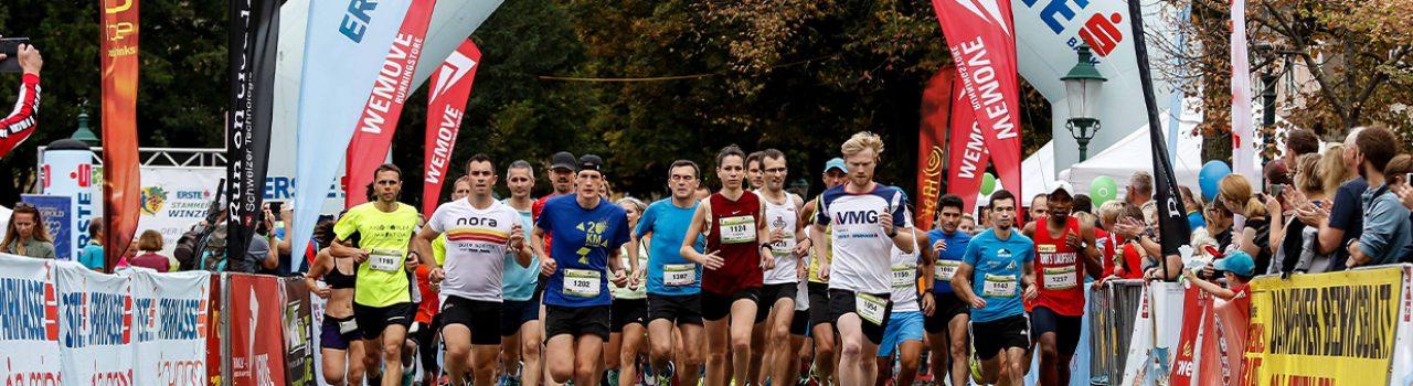 Läufer beim Start des Stammersdorfer Winzerlaufs