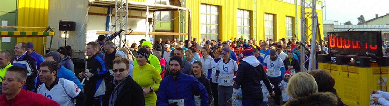 Läufer beim Start des Simmeringer Haide Dreikönigslaufs