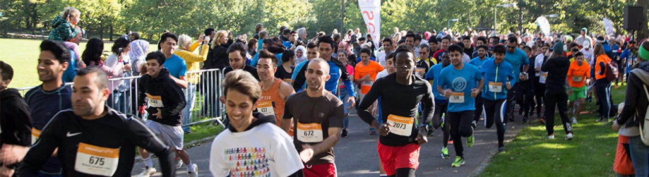 Läufer beim Start des LebensLauf