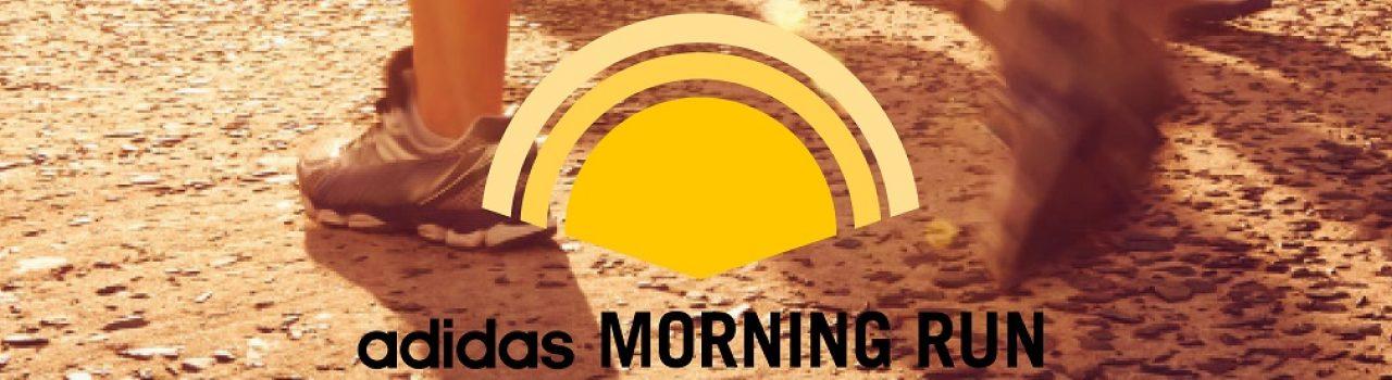 Morgenstimmung beim adidas morning run