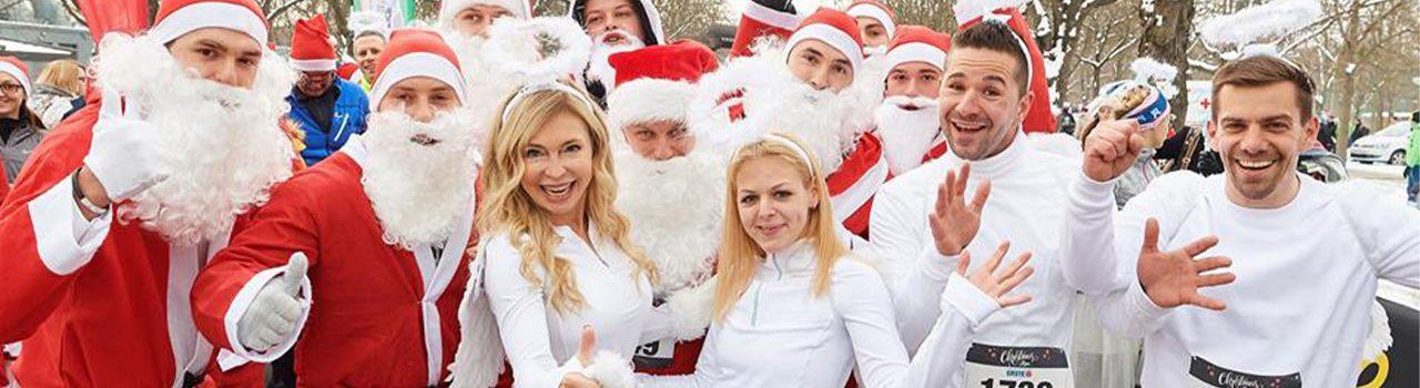 Läufer beim Vienna Christmas Run