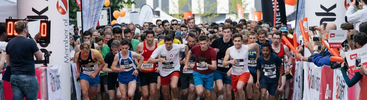 Läufer beim Start des Vienna Uni-Run